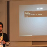 Avinash Kundaliya explaining about Javascript and WordPress